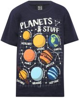 M&Co Science Museum glow in the dark planet print t-shirt