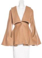 Alexander McQueen Camel Bell Sleeve Coat