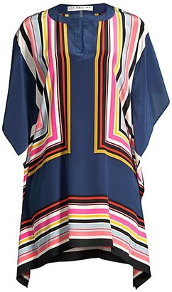 Trina Turk Theordora Frame Silk Dress
