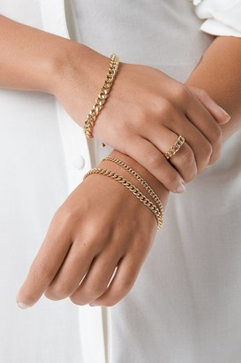 NA-KD Ring and Bracelets Chain Set Gold