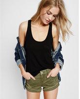 Express Distressed Flip-hem Shorts