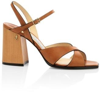 Jimmy Choo Joya Leather Sandals