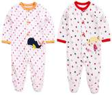 Anbaby Baby And Little Girls' 2 Pack Printing Pajama Sleeper 9M