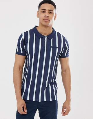 Esprit polo with vertical stripe-Navy