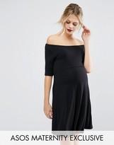 Asos Bardot Skater Dress with Half Sleeve