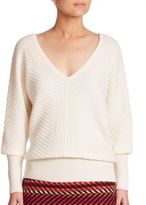 Trina Turk Merino Wool V-Neck Knit Top