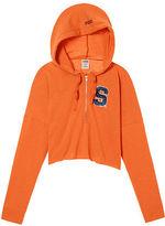 PINK Syracuse University Varsity Cropped Half-Zip Hoodie