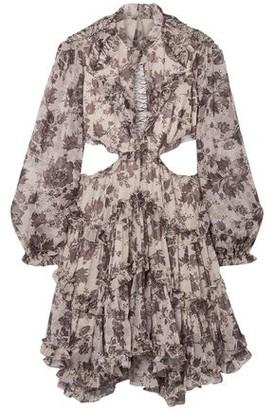 Zimmermann Juno Open-back Printed Silk-georgette Mini Dress