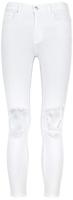 Free People Busted White Distressed Skinny Jeans