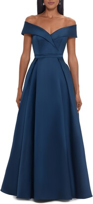 Xscape Evenings Xsacpe Mikado Off the Shoulder Gown