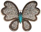 RichBest Fashionable Rhinestone Butterfly Brooch Pin Gold Women Dress Wedding Bridal Brooch Pin