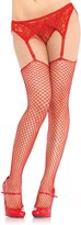Leg Avenue Women's Spandex Industrial Net Stockings With Unfinished Top