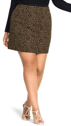 City Chic Animal Print Skirt
