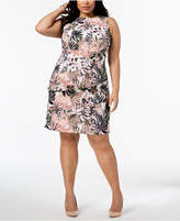 Connected Plus Size Tiered Sheath Dress