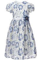 Jayne Copeland Little Girls 2T-6X Floral-Lace-Overlay A-Line Dress