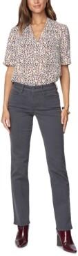 NYDJ Petite Marilyn Straight-Leg Tummy-Control Jeans