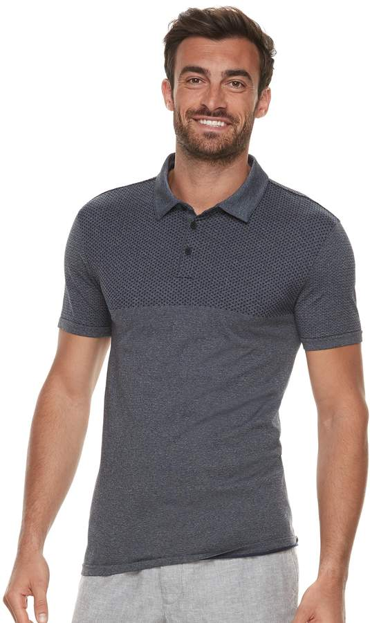 Marc Anthony Men's Slim-Fit Textured Contrast Polo