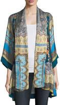 Johnny Was Koben Printed Silk Kimono, Plus Size