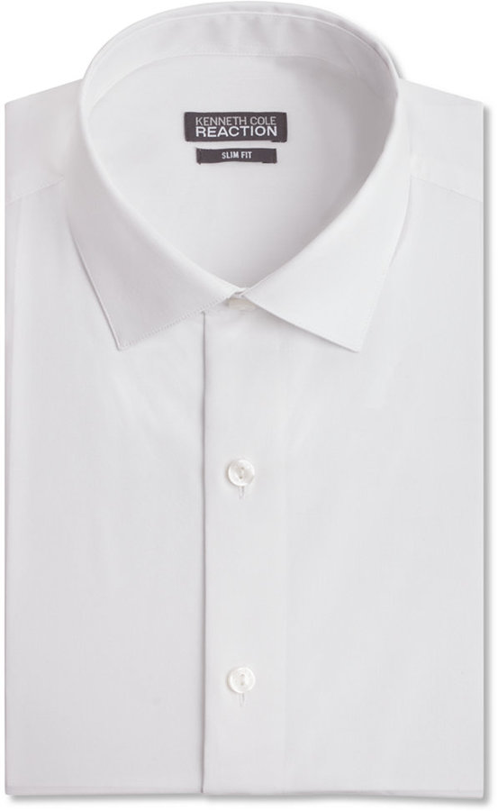 Kenneth Cole Reaction Slim-Fit Solid Dress Shirt