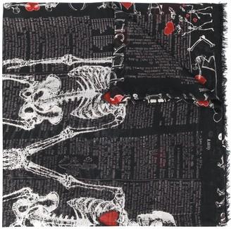 Faliero Sarti Skeleton-Print Lightweight Scarf