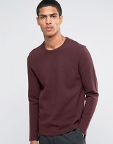 Selected Ribbed Crew Neck Sweat