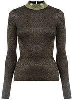 """Oasis SEQUIN AND SPARKLE TURTLE NECK [span class=""""variation_color_heading""""]- Black[/span]"""