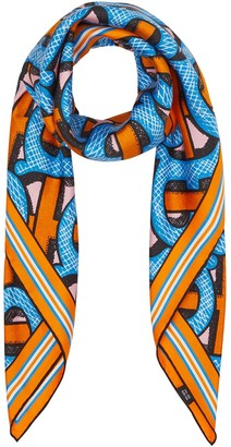 Burberry Monogram-print square scarf