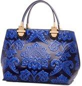 GUGGE Womens National Style Luxury Shoulder Bags Flowers Temperament Handbags(C1)