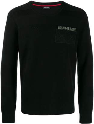 Diesel military-inspired jumper