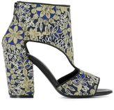 Strategia Blue Fabric Ankle Boots