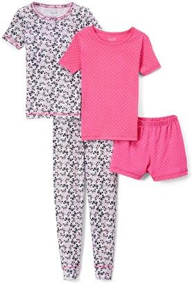 Rene Rofe Girl Girls' Sleep Bottoms ASSTPRINTS - White & Pink Panda Pajama Set - Girls