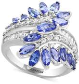 Effy Royalé Bleu Sapphire (3-1/5 ct. t.w.) and Diamond (3/8 ct. t.w.) Ring in 14k White Gold (Also in Tanzanite)