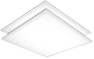 Nuvo Lighting 2' x 2' LED Flat Panel Light (Set of 2 Bulb Color Temperature: 3500 K