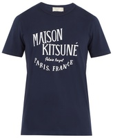 MAISON KITSUNÉ Logo-print crew-neck cotton T-shirt