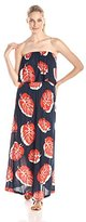 Lucky Brand Women's Tossed Leaf Maxi Dress