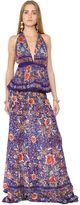 Roberto Cavalli Flower Printed Silk Georgette Dress