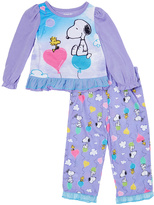 Komar Kids Purple Peanuts Pajama Set - Toddler