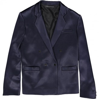 Anthony Vaccarello Navy Jacket for Women
