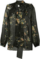 Zimmermann sheer floral blouse