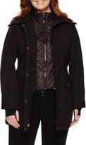 Liz Claiborne Snap-Collar Softshell Jacket-Plus