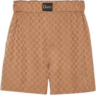 Gucci GG silk shorts