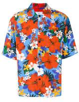Ami Alexandre Mattiussi Short Sleeve Floral Shirt - Blue - Size XL