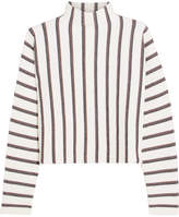 Maje Jacquard-knit Turtleneck Sweater - Ecru