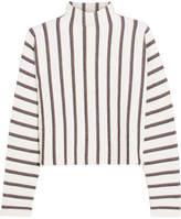 Maje Jacquard-knit Turtleneck Sweater