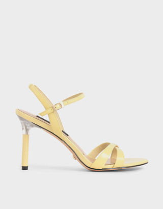 Charles & Keith Patent Leather Criss-Cross Heels