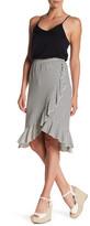 Bobeau Striped Ruffle Skirt