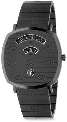 Gucci Grip GG PVD & Stainless Steel Bracelet Watch
