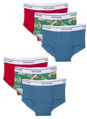 Fruit of the Loom Assorted Potty Training Pants, 6 Pack (Toddler Boys)