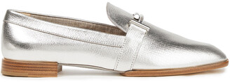 Tod's Embellished Metallic Textured-leather Loafers