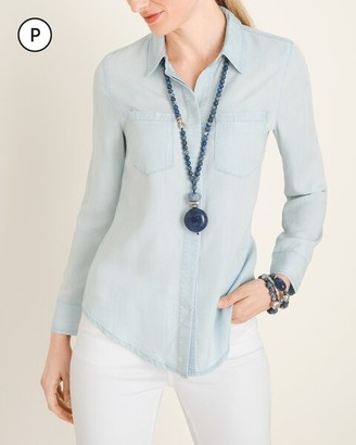 Chico's Petite Classic Denim Shirt